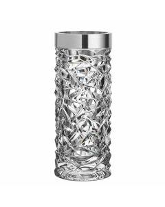 ORREFORS CARAT vase i krystall med stålkant